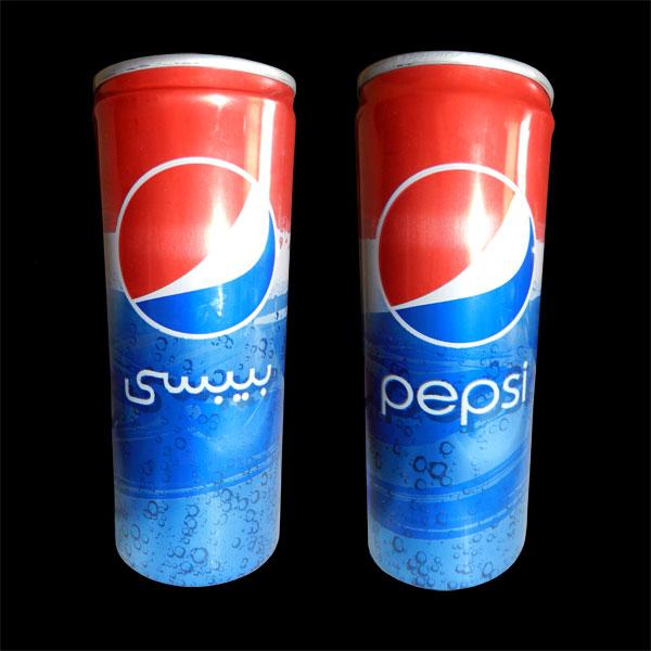 Logotipo árabe de Pepsi بيبسي