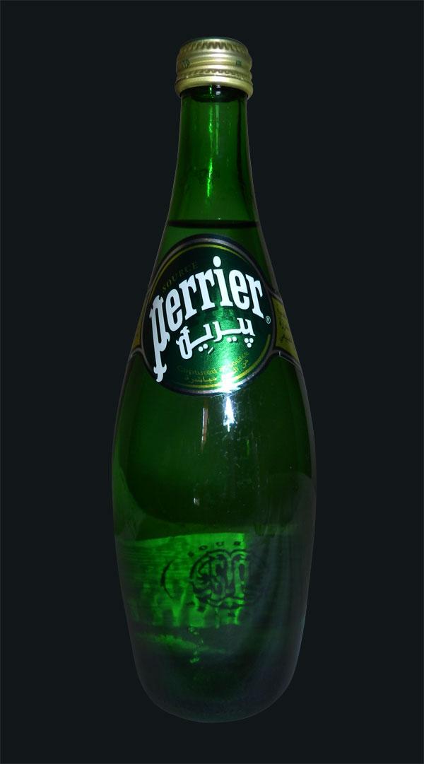 Logotipo árabe de Perrier بيريه
