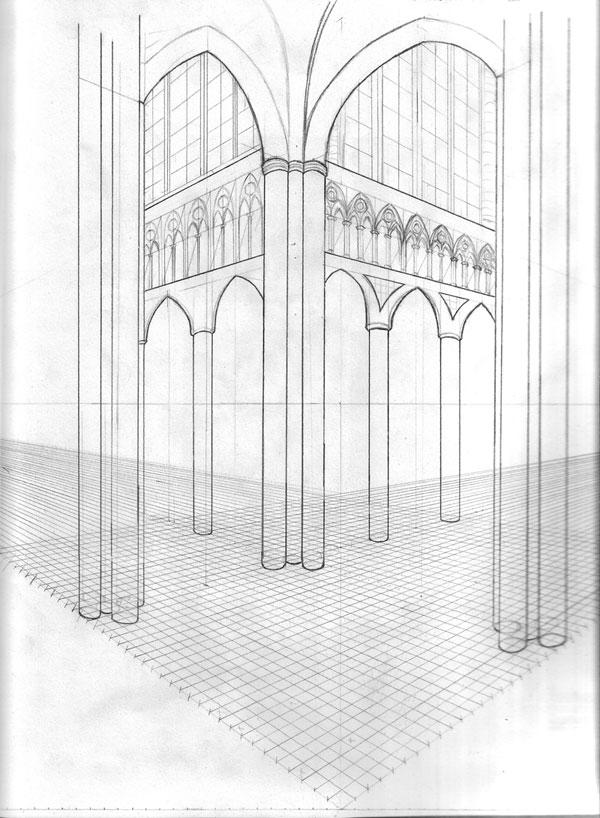 dibujo técnico catedral