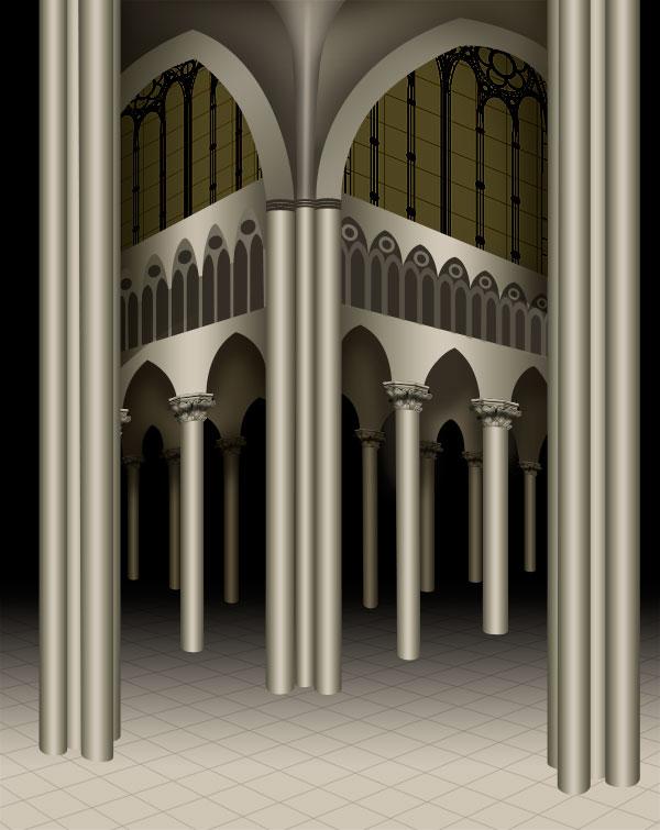 grises catedral gótica