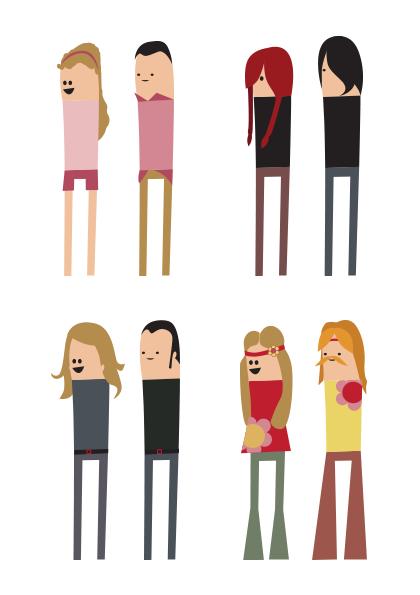 Personajes caracterizados