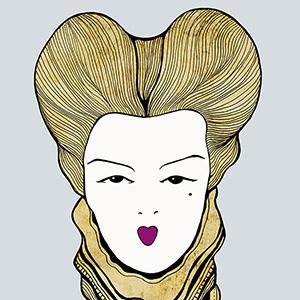 Ilustración Maquillaje Renacentista