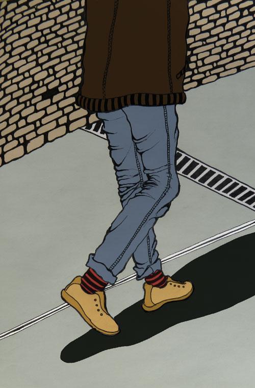 """Ilustración relato """"La calle"""""""