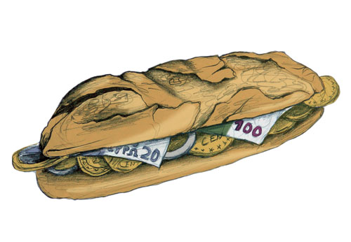 """Ilustración artículo """"Especulación alimentaria"""""""