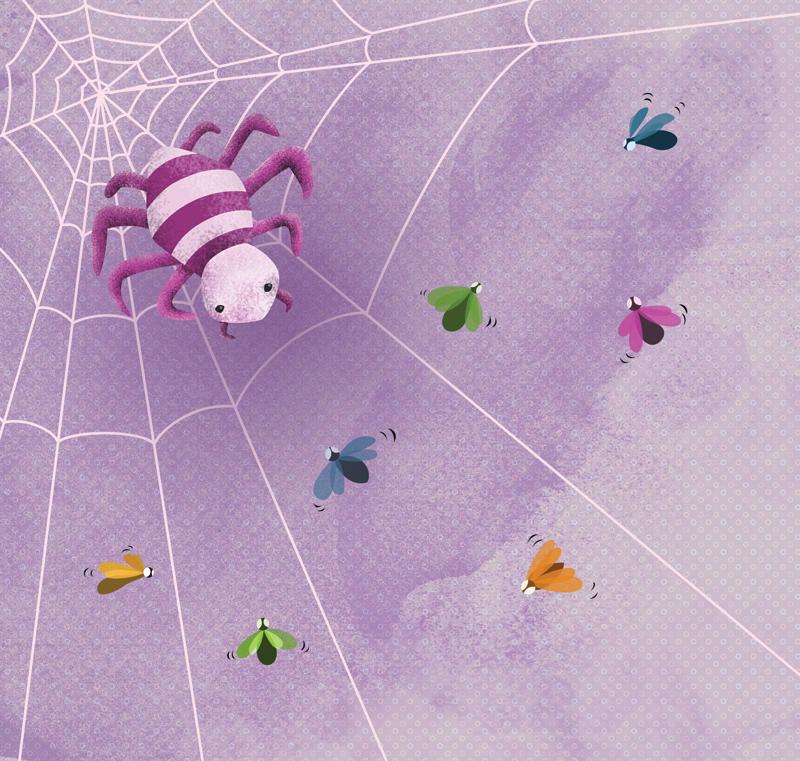Ágata, la araña acróbata