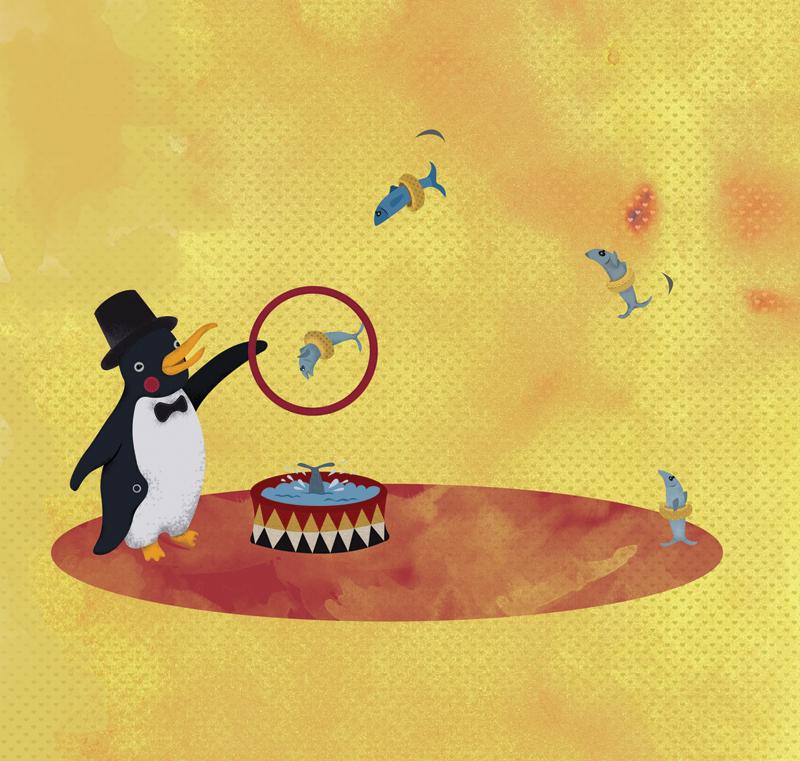 Amador, el pingüino domador