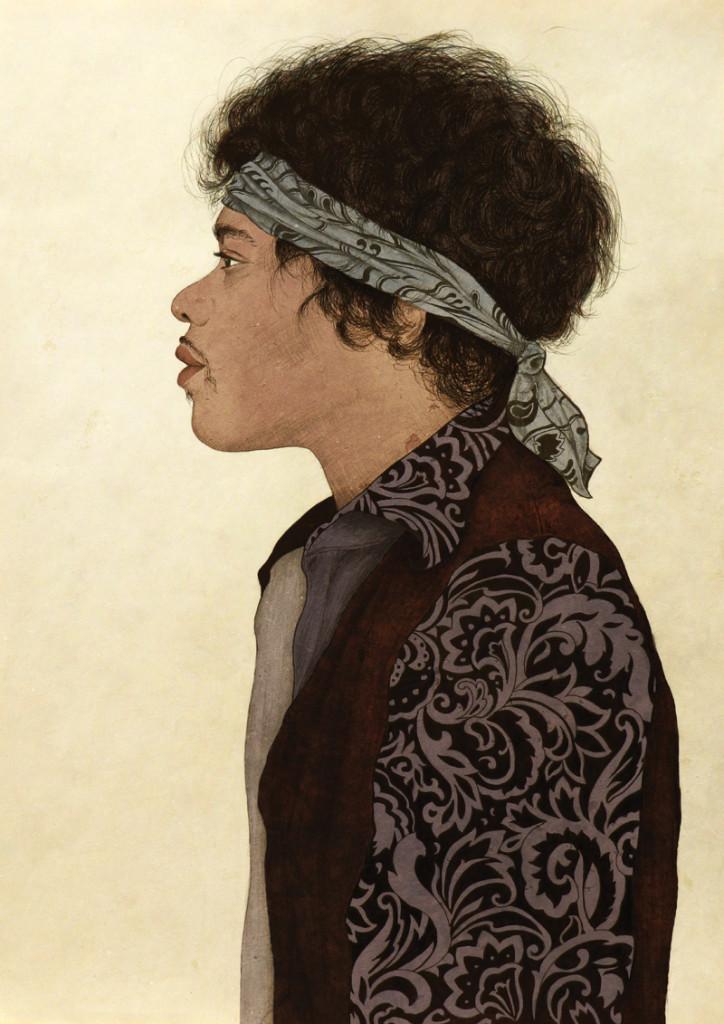 Ilustración Jimmi Hendrix