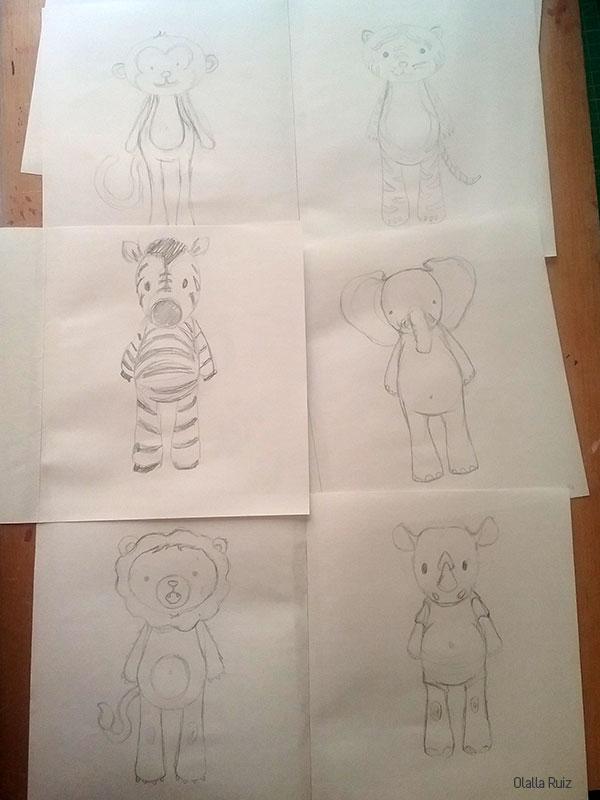 Dibujos de animales de la selva