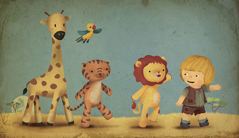 Ilustración amigos animales