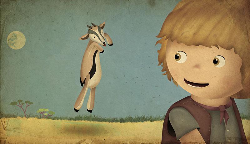 Ilustración gacela