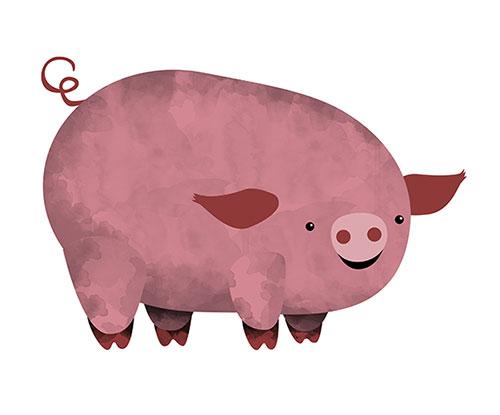 Ilustración cerdo