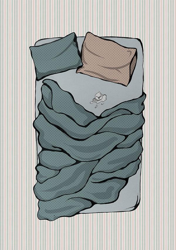 Ilustración relato La mentira