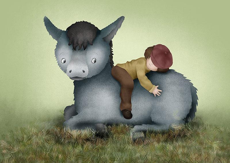 ilustración Platero y yo