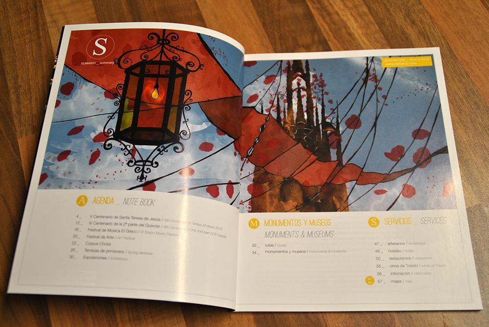 Ilustración Menú Guía Toledo Turismo
