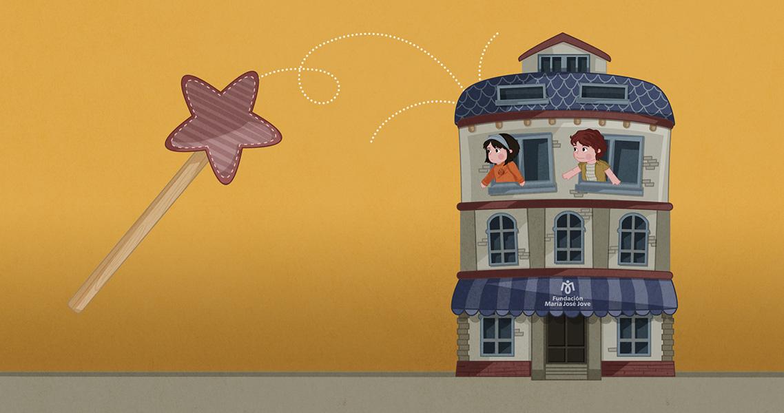 Ilustración casa mágica