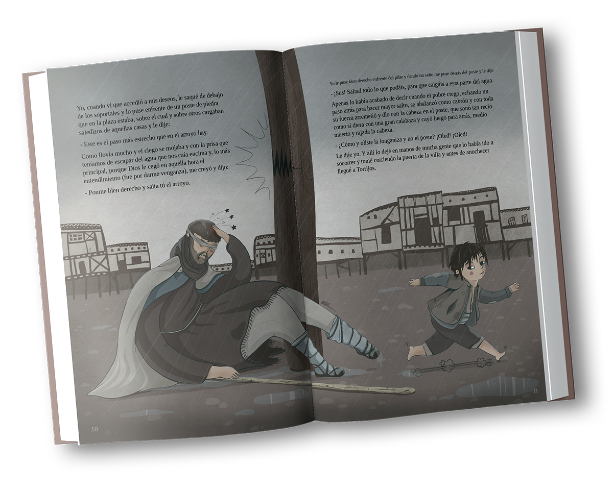 Libro ilustrado Lazarillo de Tormes