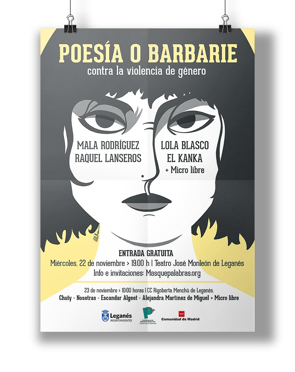 Cartel Poesia O Barbarie