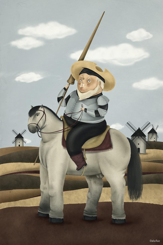 Ilustración de don Quijote Botero