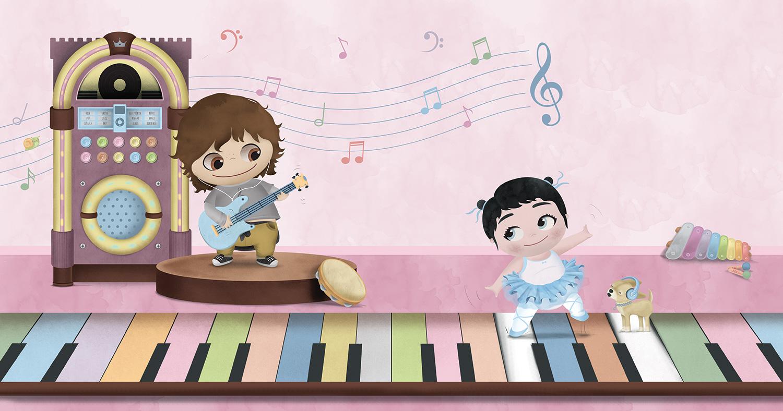 Ilustración Cuento ilustrado musica