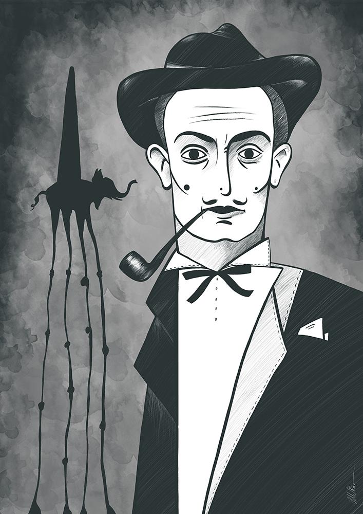 Ilustración de Dalí