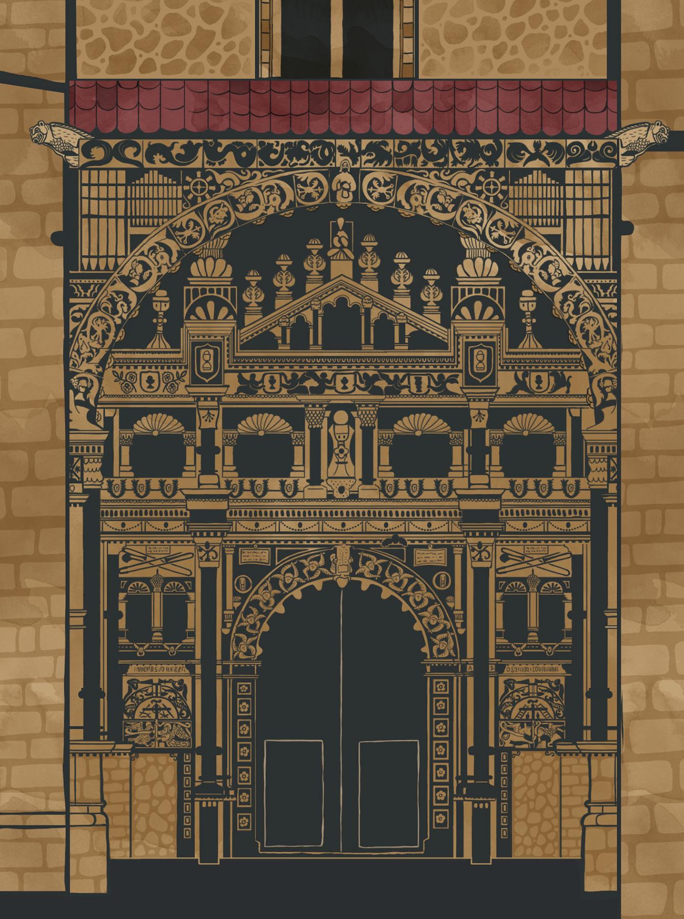 Detalle de la puerta de la Colegiata de Torrijos