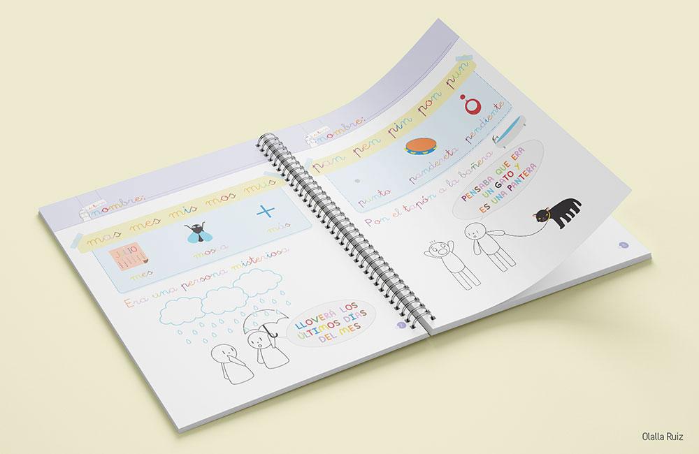 Cuaderno de anillas ilustrado