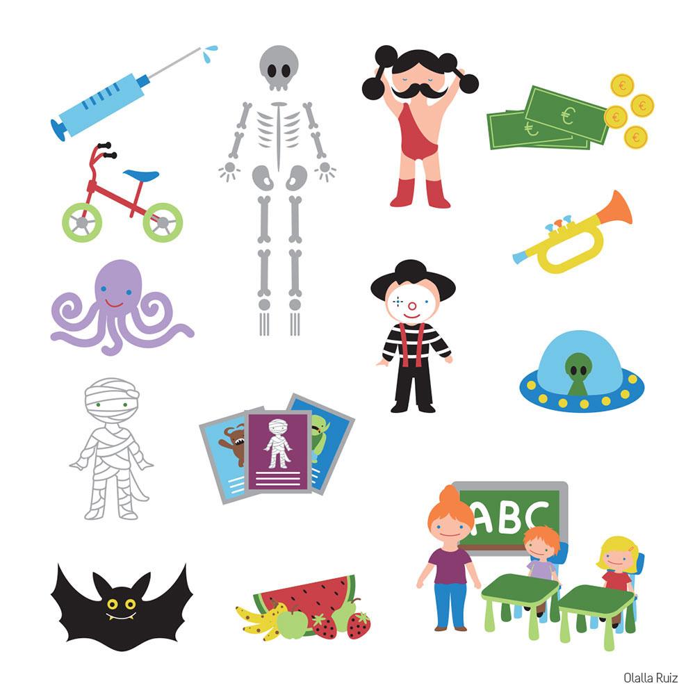 Ilustraciones que aparecen en el libro de texo de lectoescritura