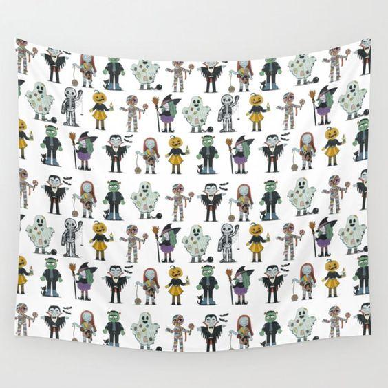 Diseño de patron para textil con motivo de halloween