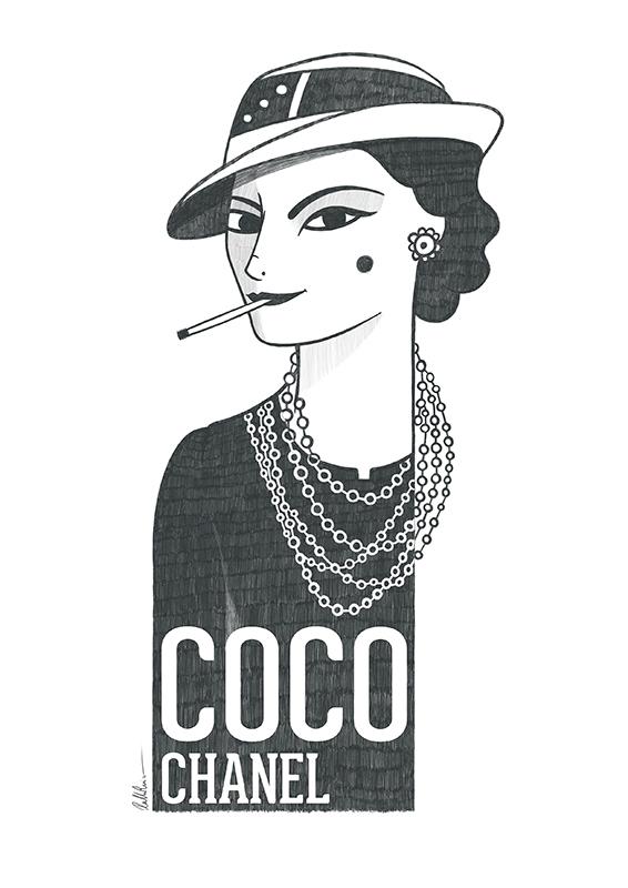 Retrato de Coco Chanel