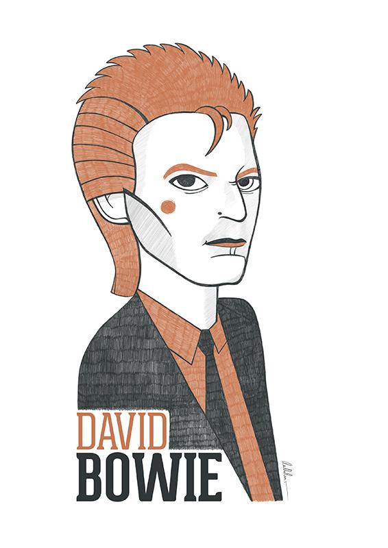 Dibujo de David Bowie