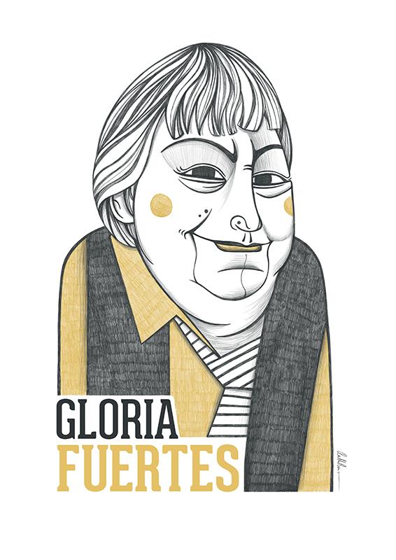 Ilustración de Gloria Fuertes