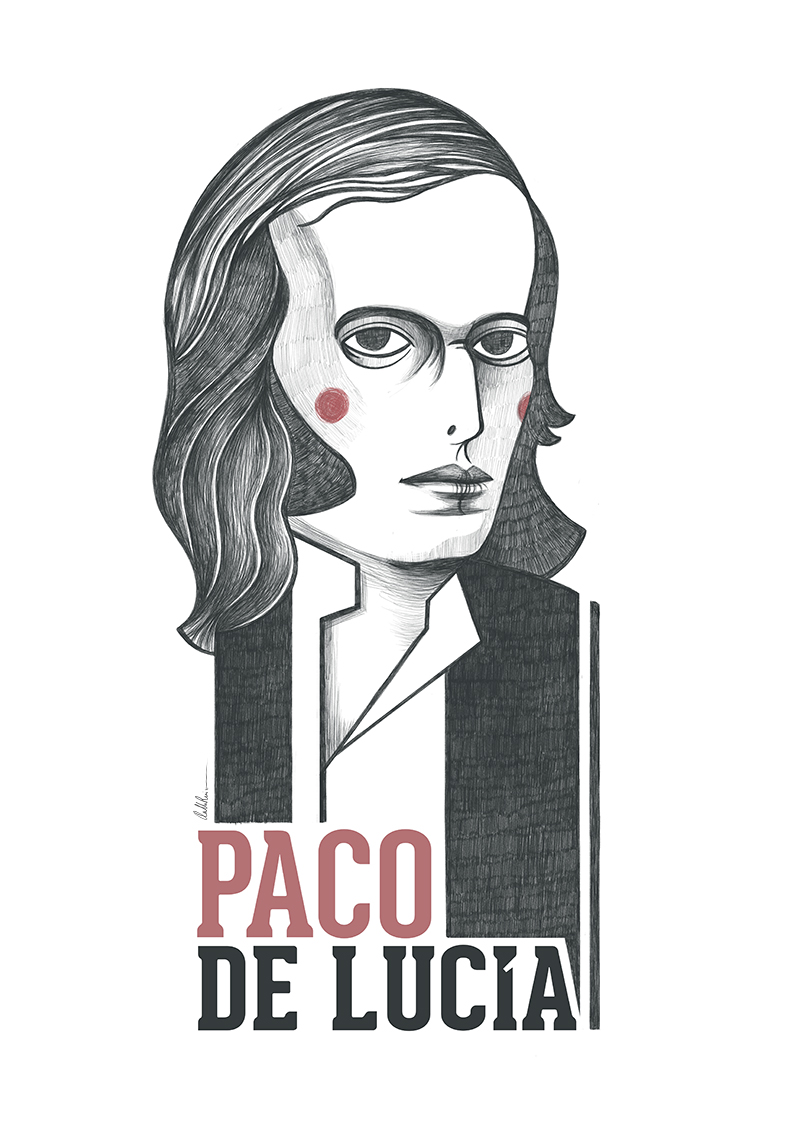 Ilustración de Paco de Lucía