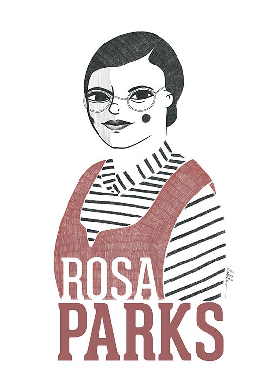 Ilustración de Rosa Parks