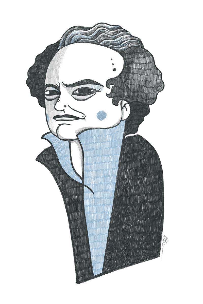 Caricatura de Ricardo Piglia