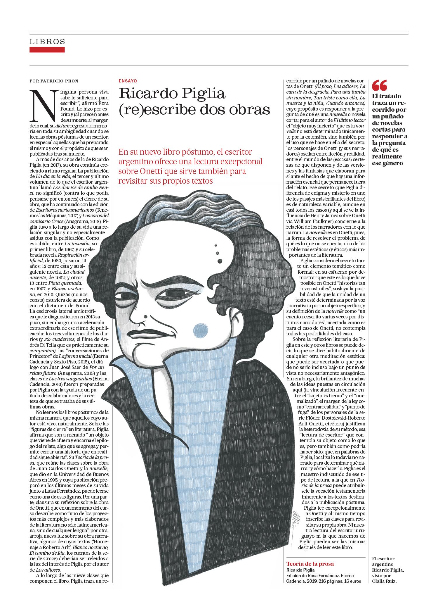 Maqueta de la pagina con el articulo