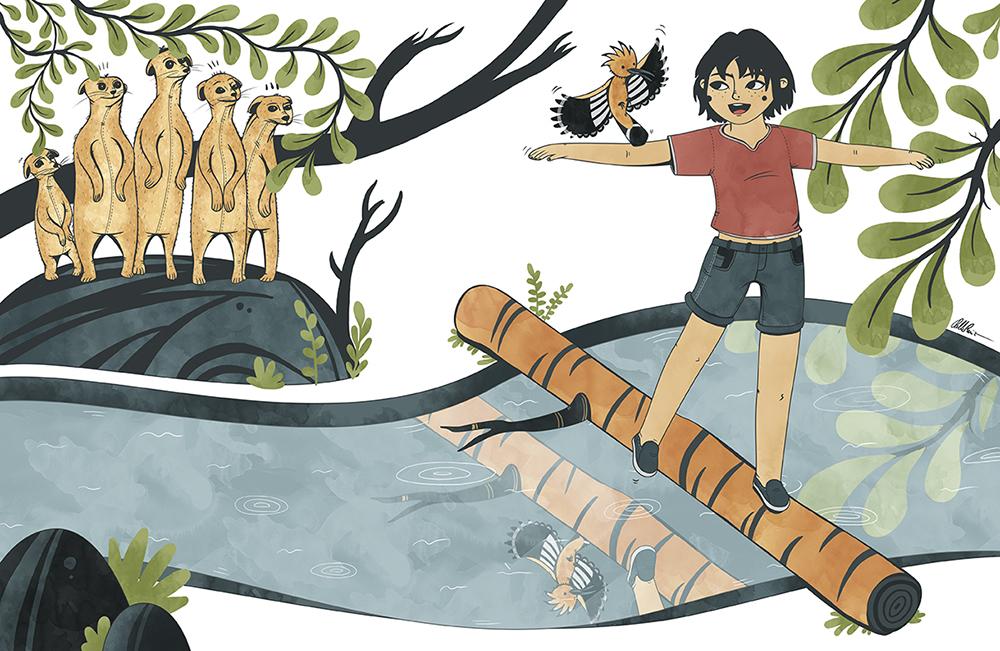 Jungle Teen illustration