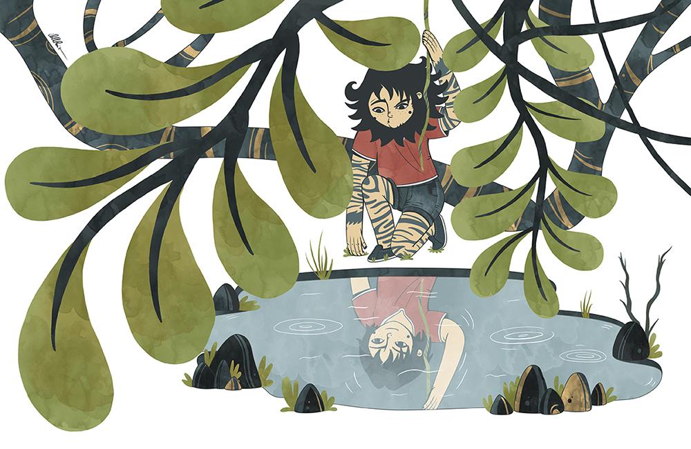 Jungle Teen at the lake