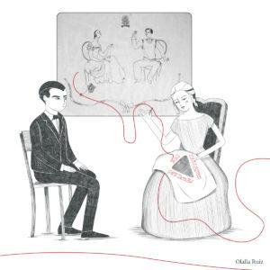 Dibujos de Lorca y Mariana Pineda